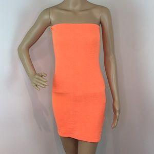American Apparel Dresses - NWOT American Apparel Tangerine Tube Top Dress